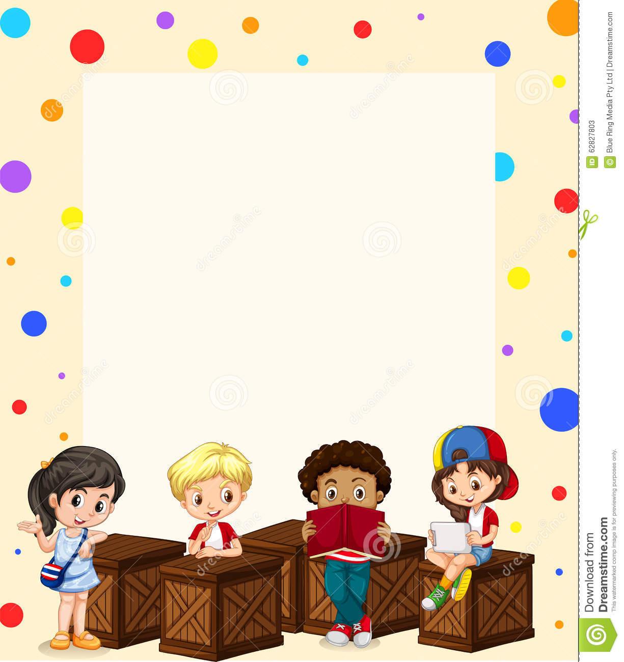 Kids Border Design Clipart.
