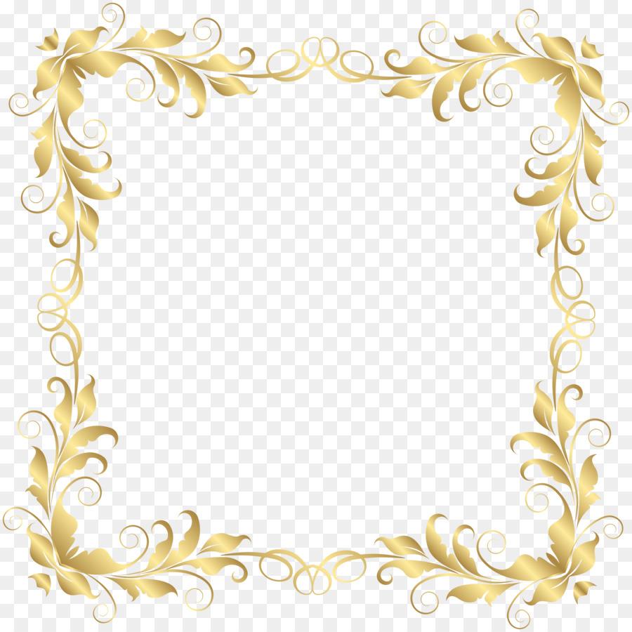 Floral Border Design png download.