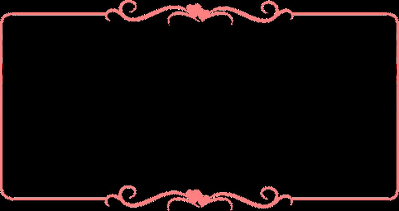 Frame Border Pink Design PNG.