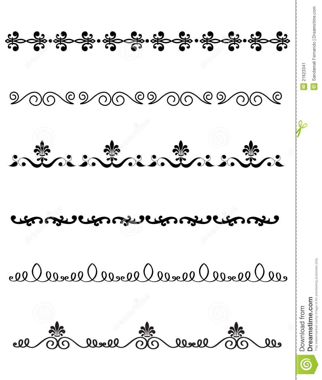 Decorative divider stock vector. Illustration of clipart.