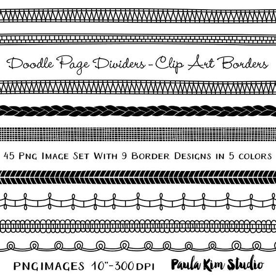 Doodle Border Page Divider Clip Art Download, Border Clipart.
