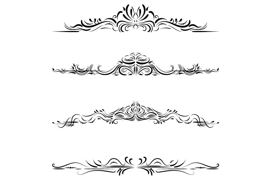 Elegant dividers clipart set.