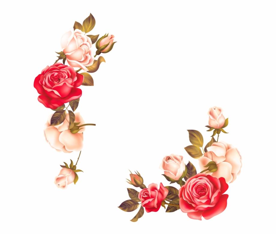 Rose Flower Border Png Free PNG Images & Clipart Download #387266.