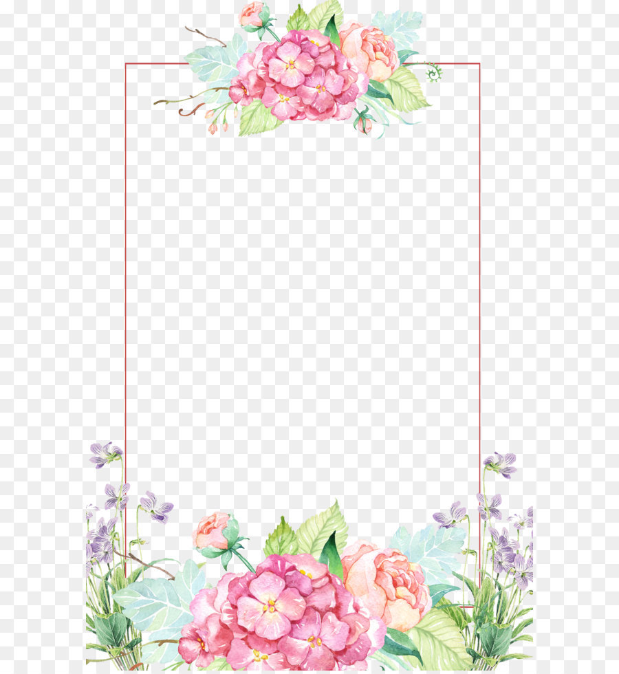 Floral Pattern Frame png download.