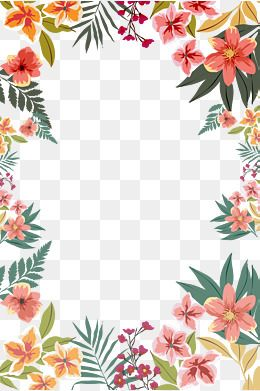 2019 的 Flower Border Shape, Border, Flower Borders, Hand Drawn.