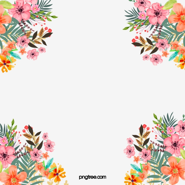 Floral Border Png, Vector, PSD, and Clipart With Transparent.