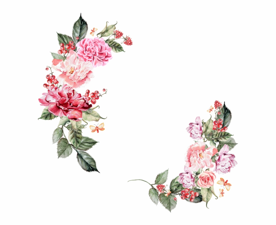 Border Flowers Png Hd, Transparent Png Download For Free #412669.