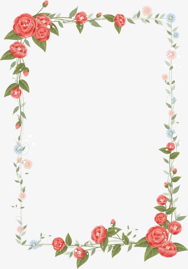 Border Png Flower & Free Border Flower.png Transparent Images #5515.
