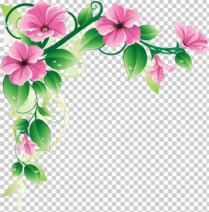 Border Flowers PNG, Clipart, Bell Design Cli, Blossom, Border.