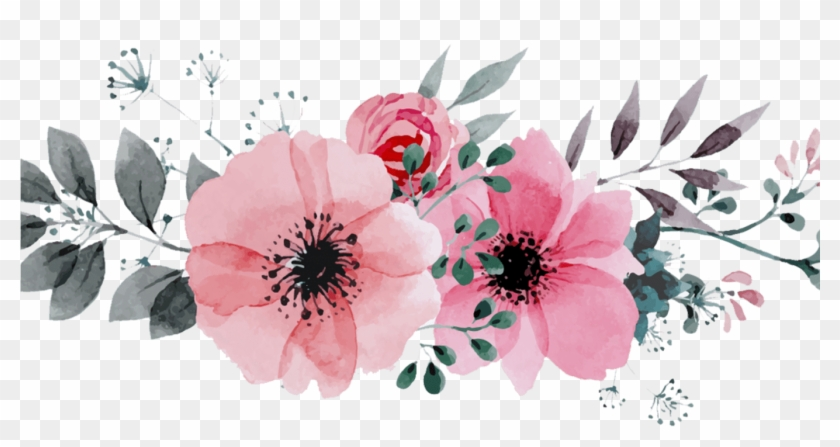 Free Printable Watercolor Flowers Border Gardening.