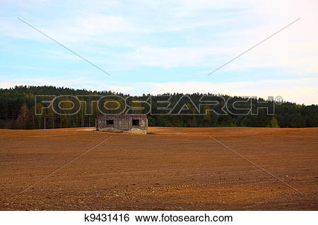 Stock Images of Heavy fortification of Soviet border k9431416.