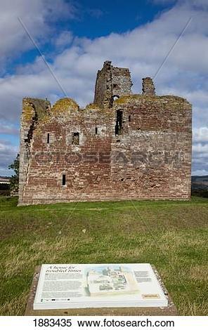 Stock Image of Cessford Castle; Scottish Borders, Scotland 1883435.