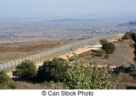 Pictures of Israel military fortification on golan heights near.