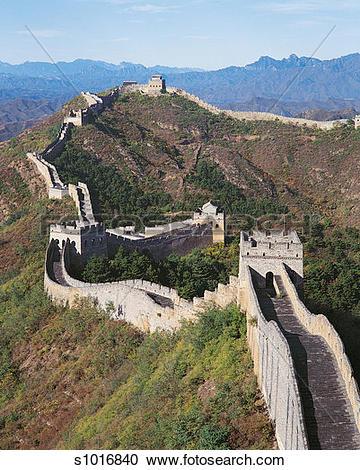 Stock Photography of Great Wall of China, Himalayas, China.