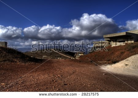 Israel Military Fortification On Golan Heights Near Syria Border.