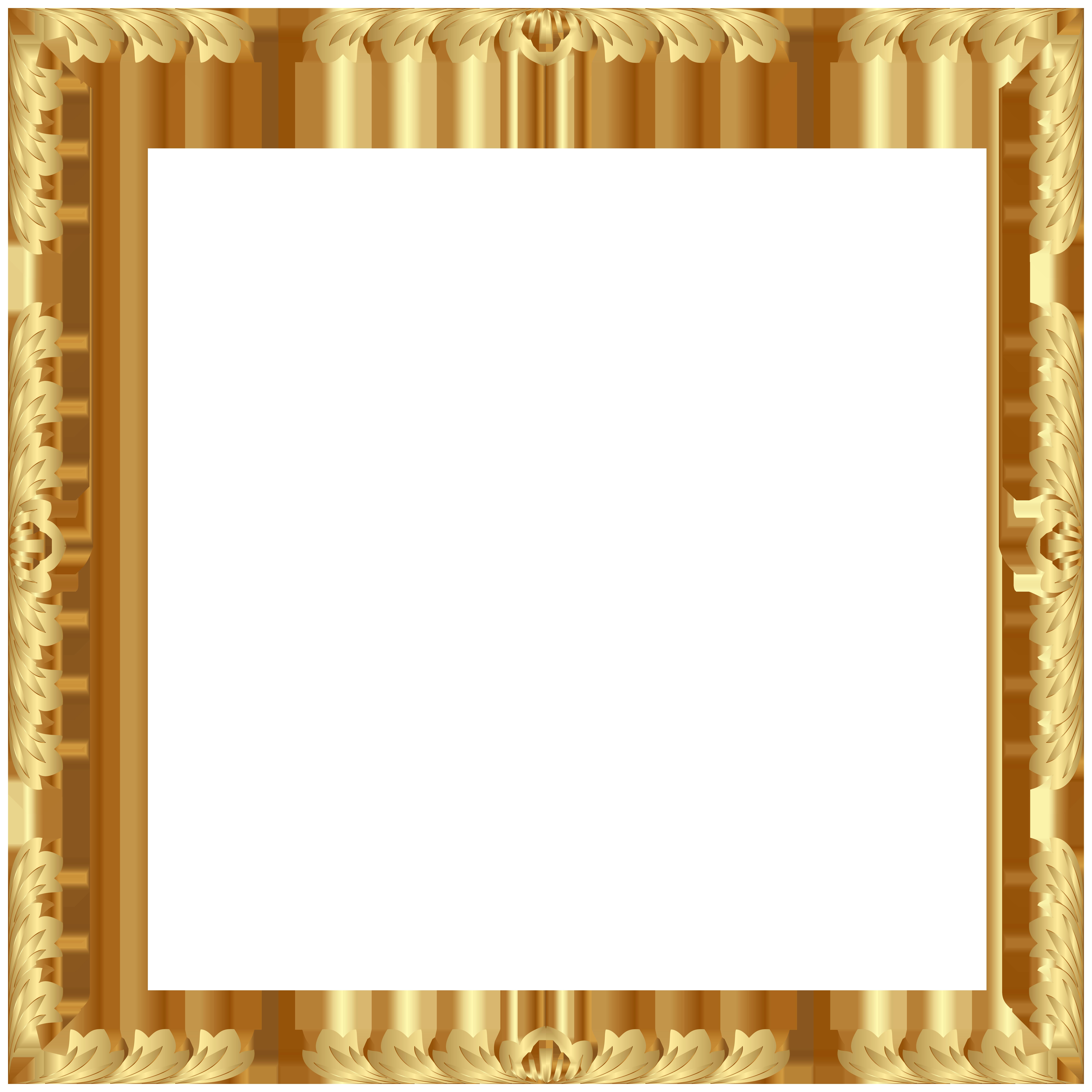Decorative Border Frame Transparent Clip Art PNG Image.