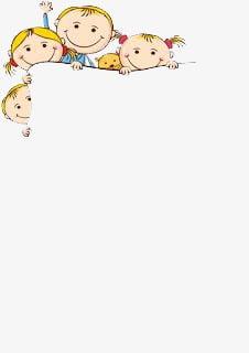 Kids cartoon border PNG clipart.