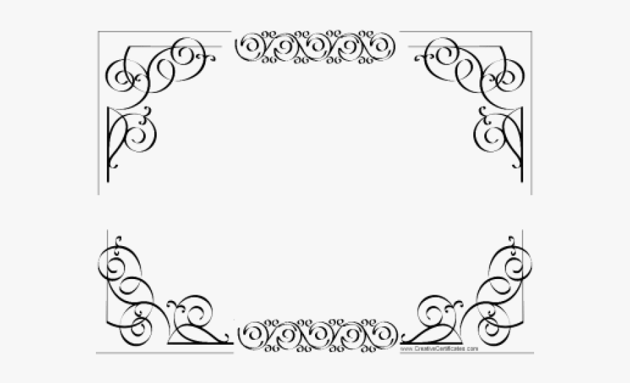 Certificate Template Clipart Border Line.
