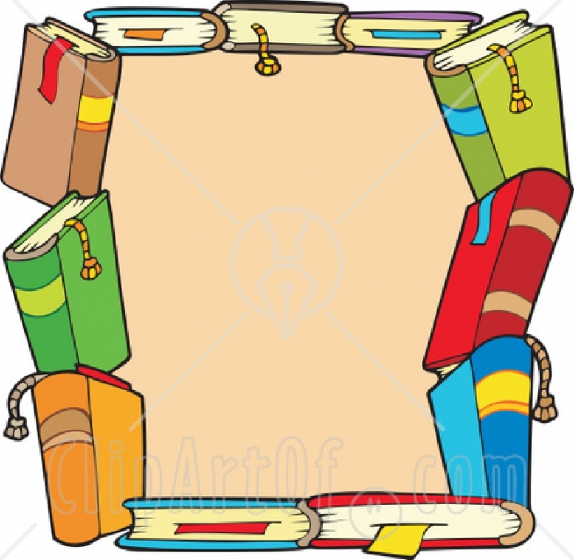 Books border clipart clipart panda free clipart images within books.