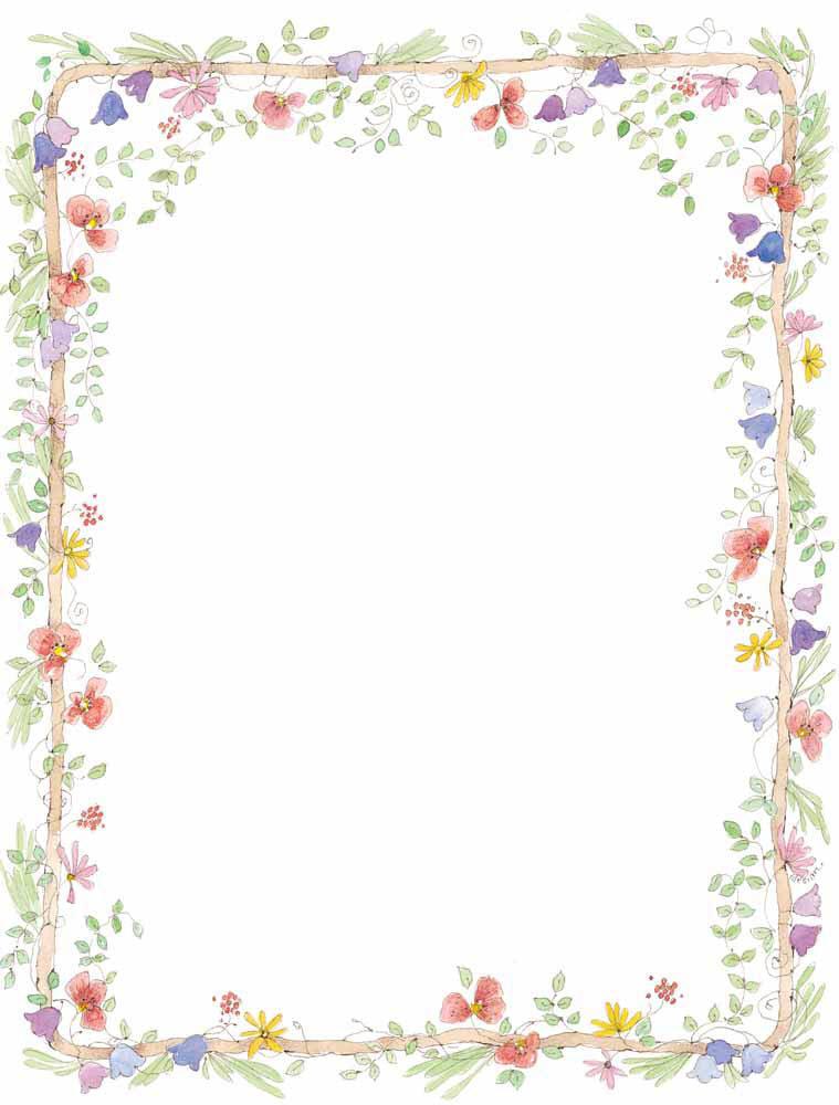 Free Flower Border Clip Art.