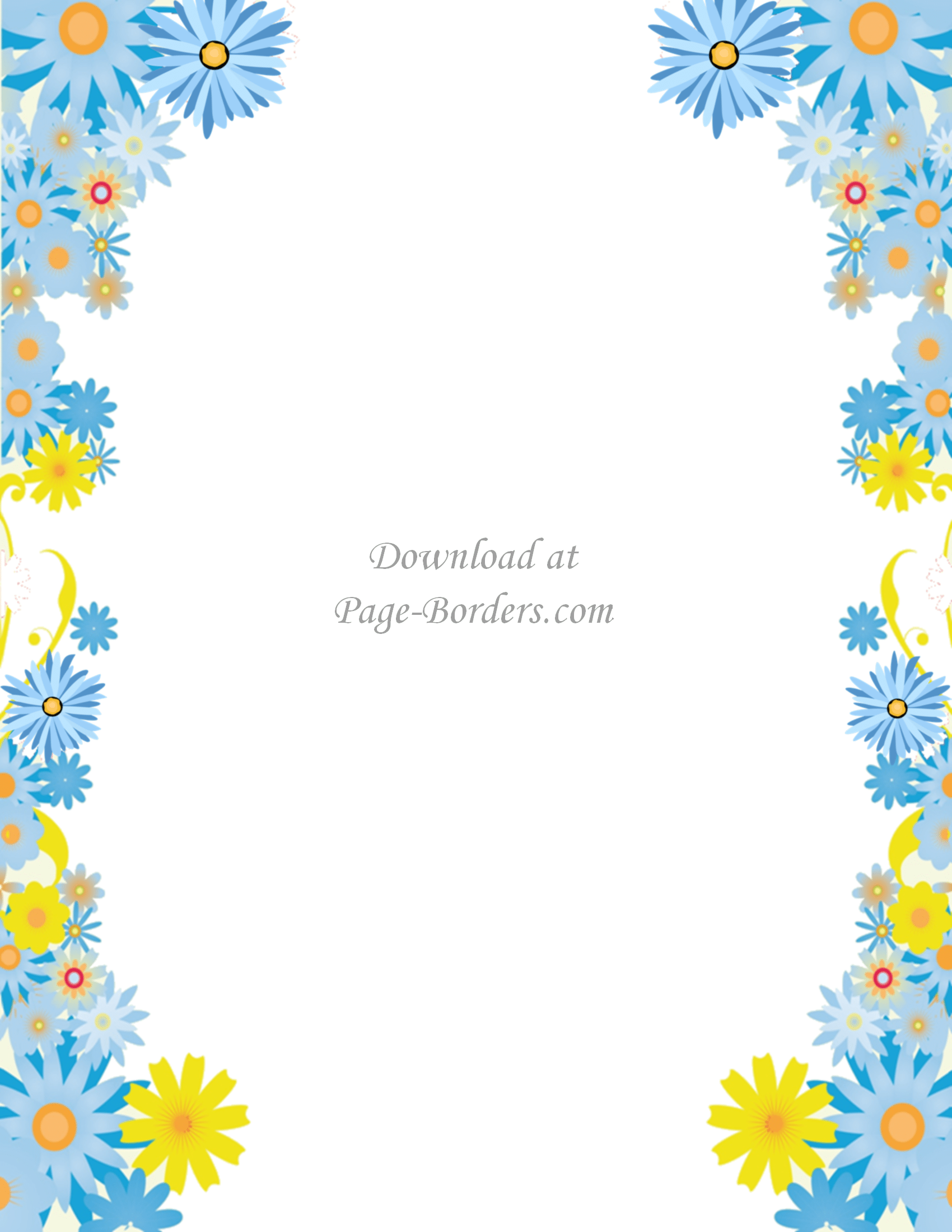 Free flower border template.