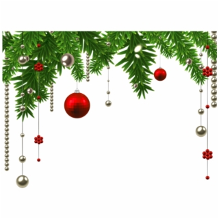 Christmas Ornament Border PNG Images.