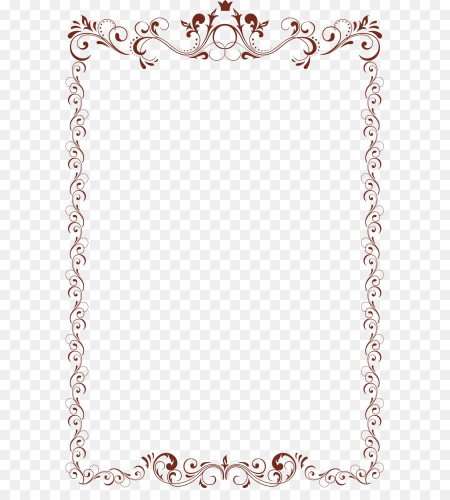 Vintage Border Frame png download.