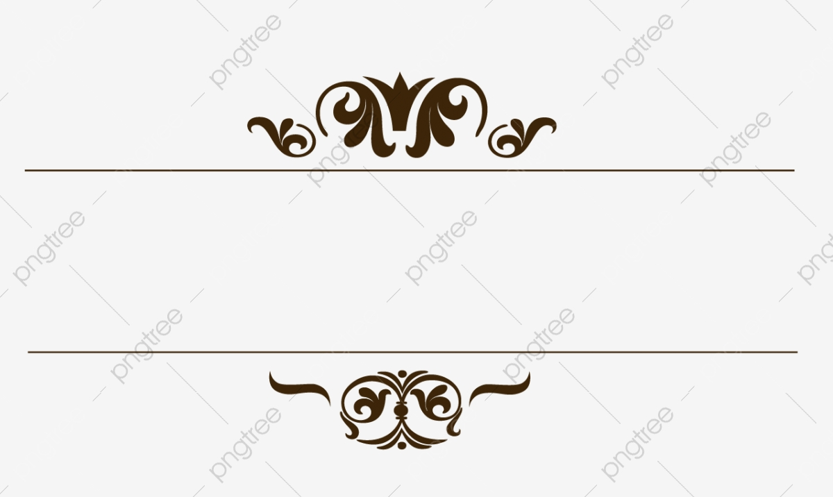 European Vintage Border Pattern, Border Pattern, Border Gold.