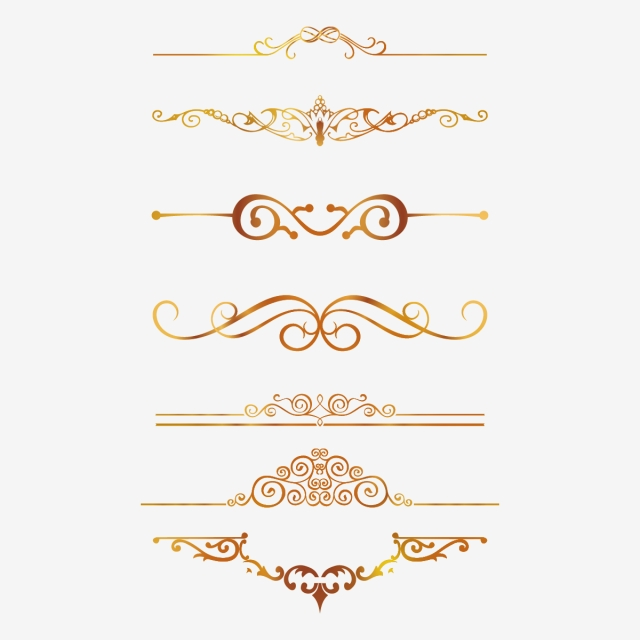 Gold Border Pattern, European Gold Borders, Golden Borders, Border.