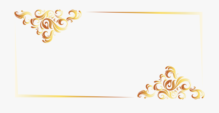 Gold Line Border European Vector 4748*2250.