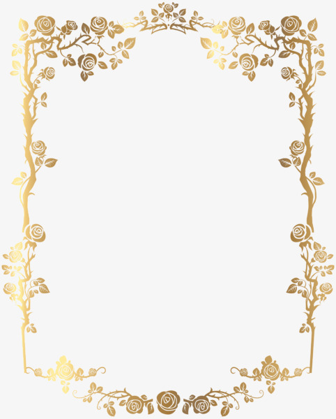 Material Gold Border, Golden, Frame, Border PNG Image and Clipart.