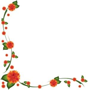 Flowers Border Clipart.