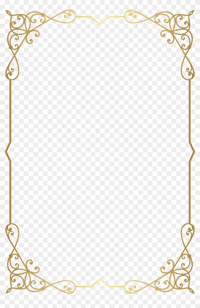 Decorative Frame Border Png Clip Art Image Gallery.