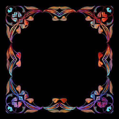 Floral Border PNG Image.