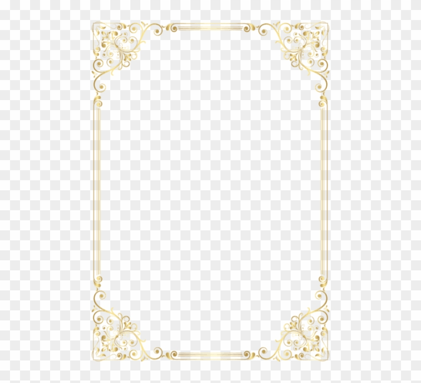 Free Png Download Elegant Gold Page Borders Png Images.