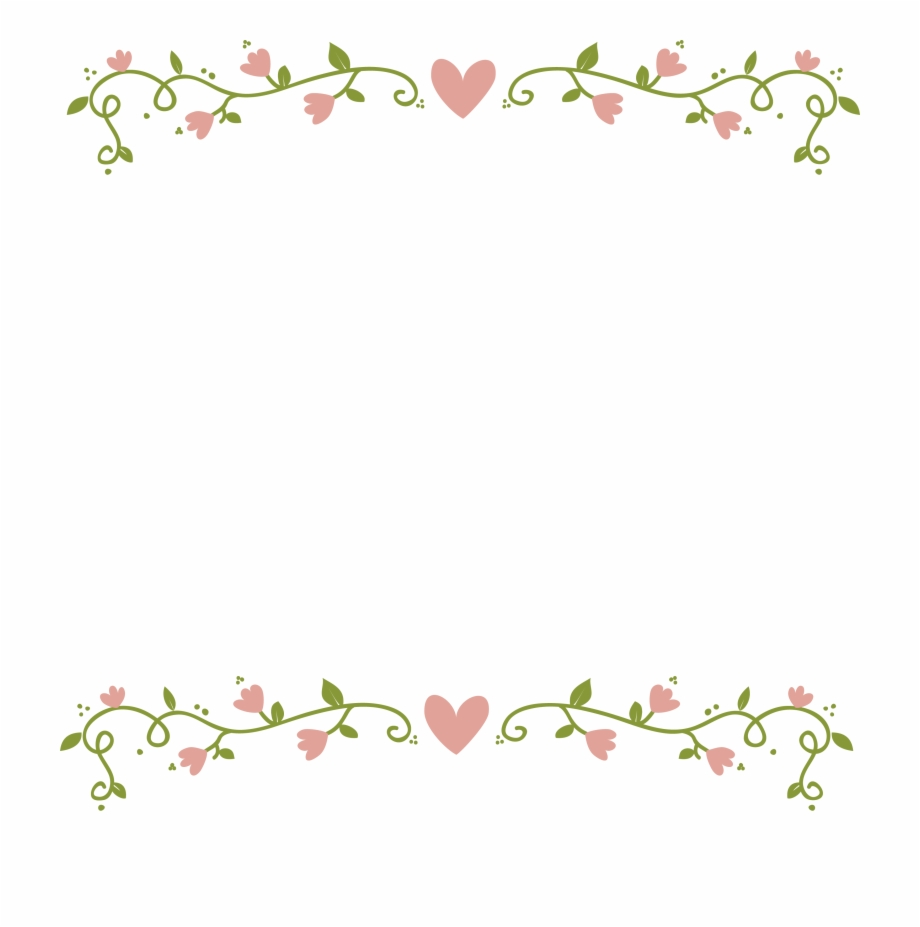 Pink Floral Border Transparent Image.