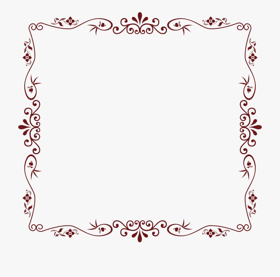 Download Floral Border Png Transparent Image.