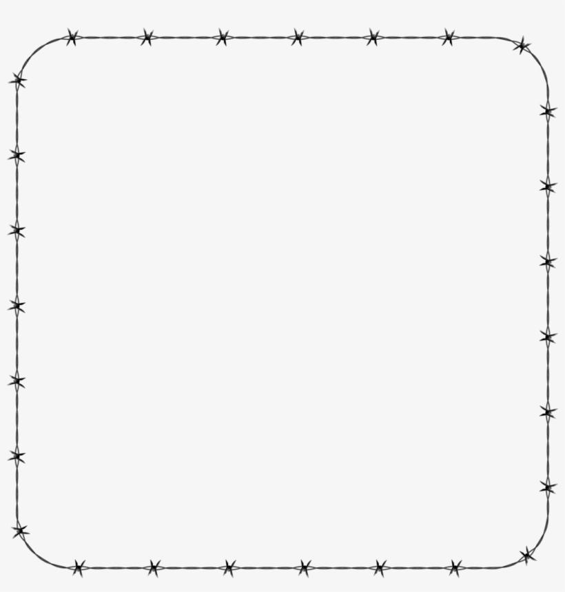 White Border Frame Transparent Background.