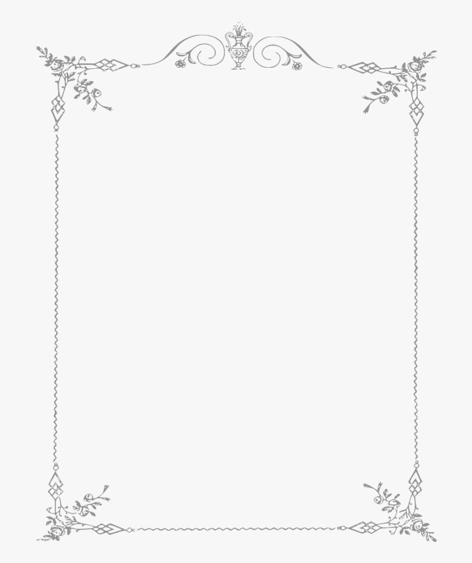 White Border Frame Png Clipart.