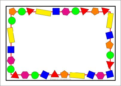 2D shapes A4 page borders (SB3880).