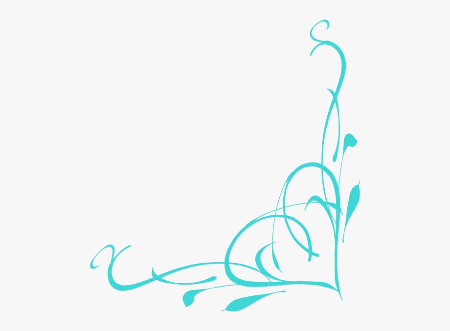 This Free Clip Arts Design Of Corner Heart Swirl.