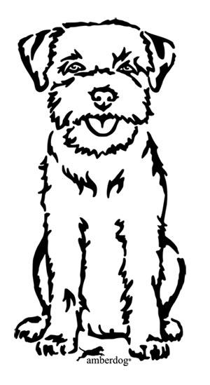 Border terrier clipart.