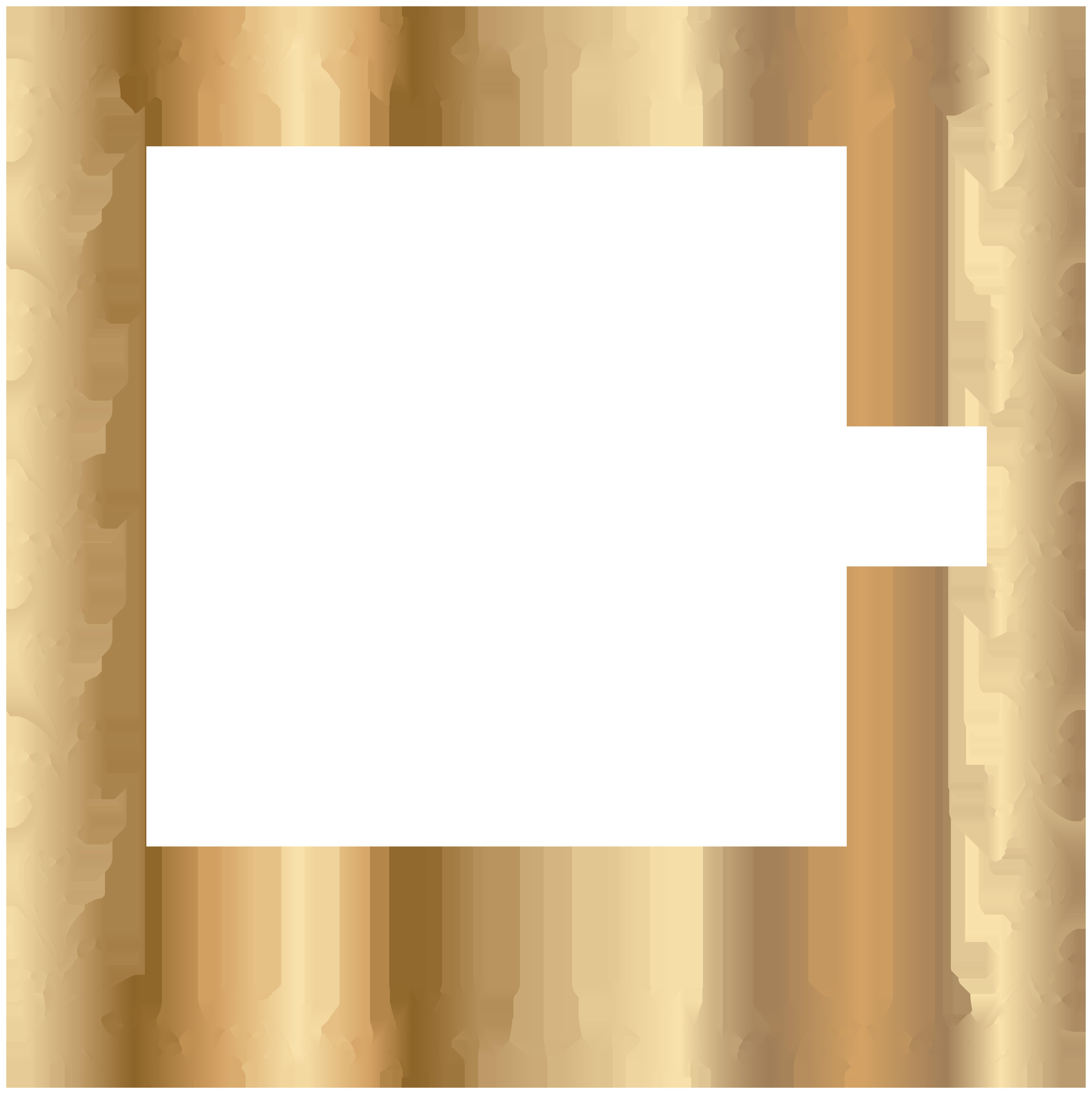 Border Deco Frame Gold Transparent PNG Image.