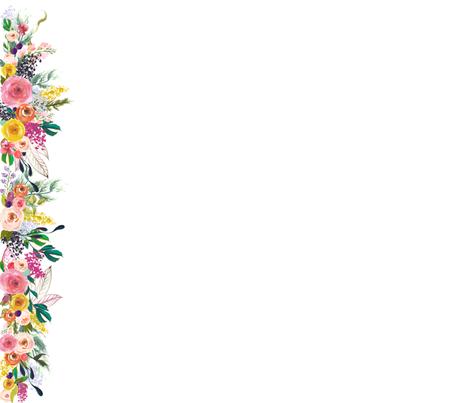 White Floral Border Download Transparent PNG Image.