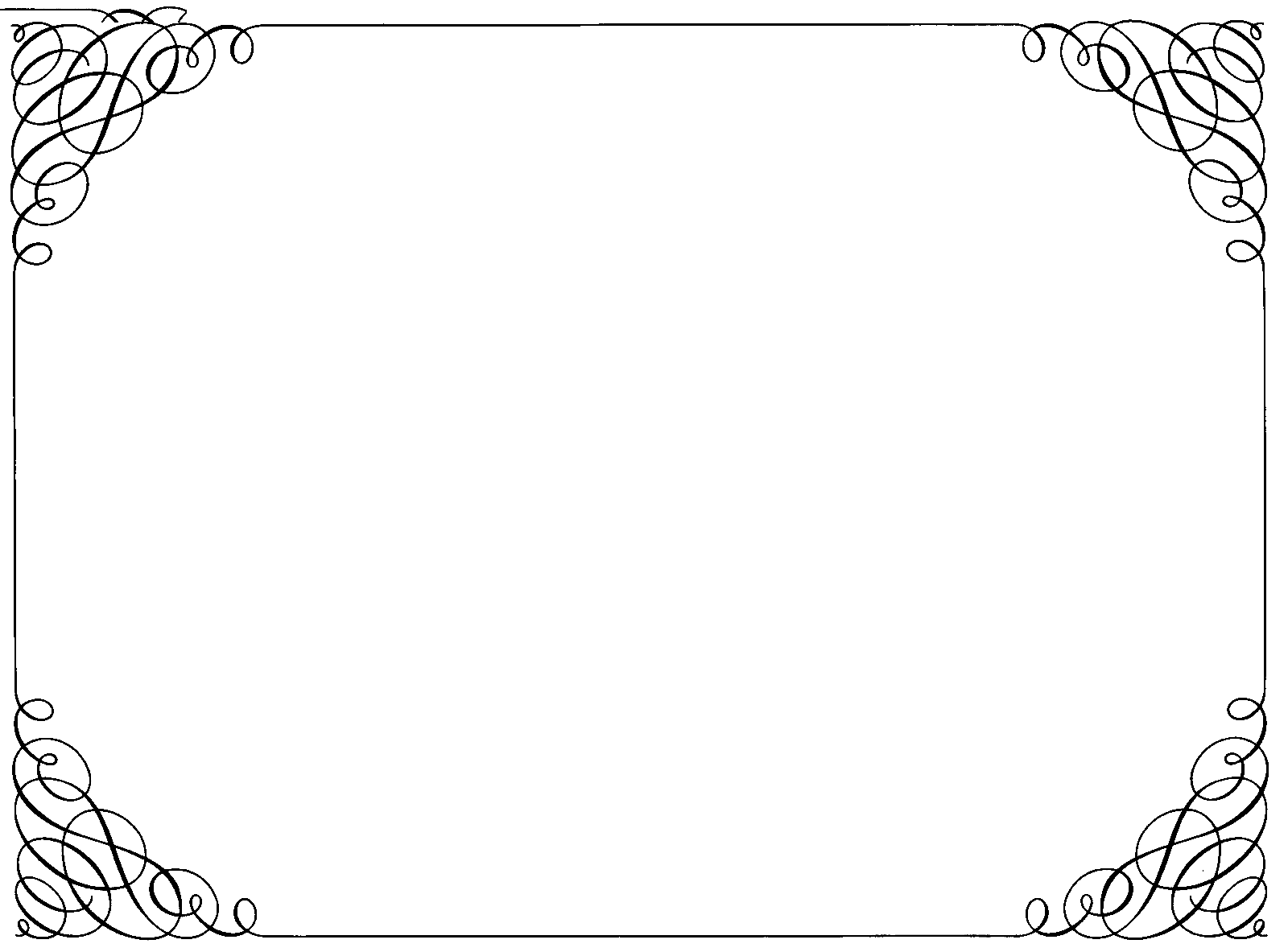 Ornate Curly Border transparent PNG.