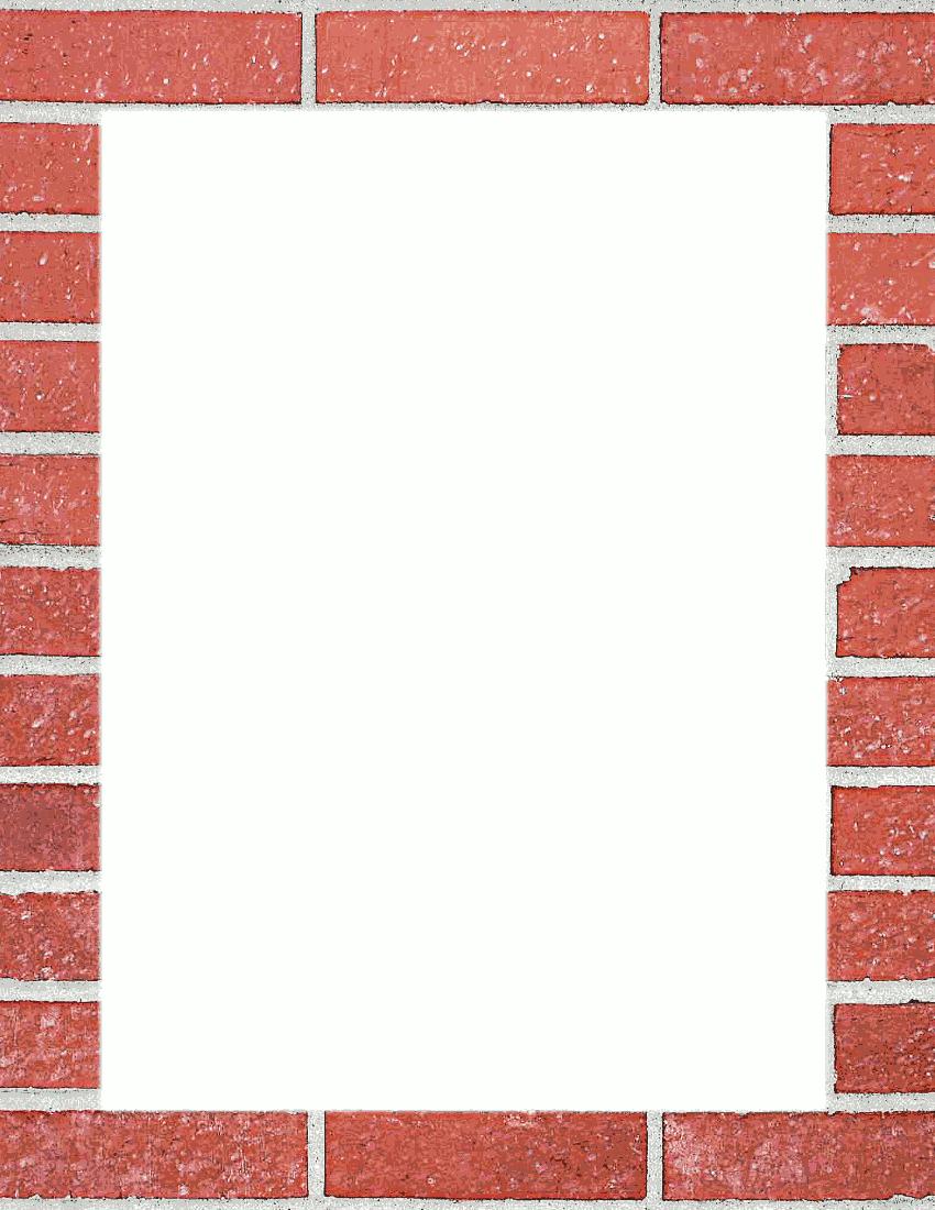 Brick Wall Border Clip Art Download.