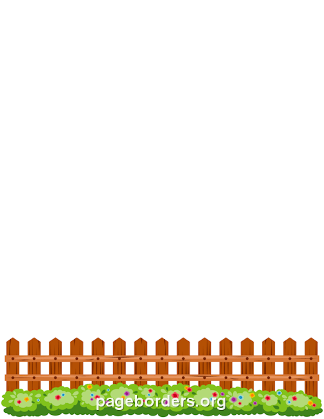 Picket Fence Border: Clip Art, Page Border, and Vector Graphics.