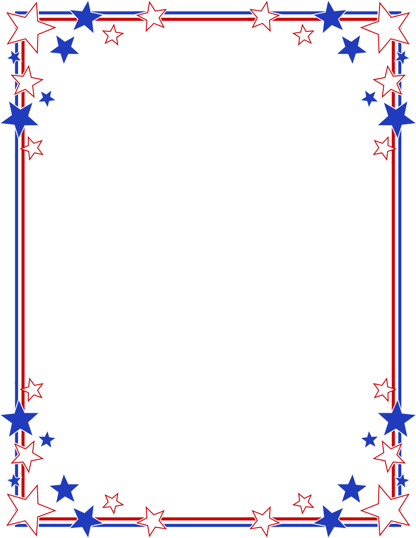 Clipart of image png patriotic frames bordered with stars and.