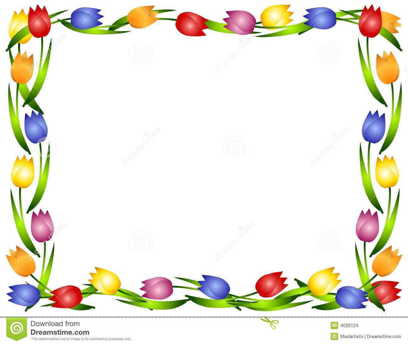 Spring Borders Clipart.