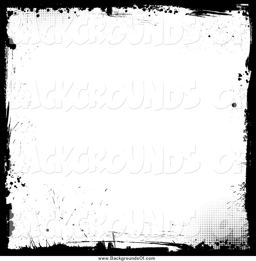 Vector Clipart of a Grungy White Background Bordered in Black.